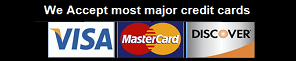 Most Credit cards are accepted